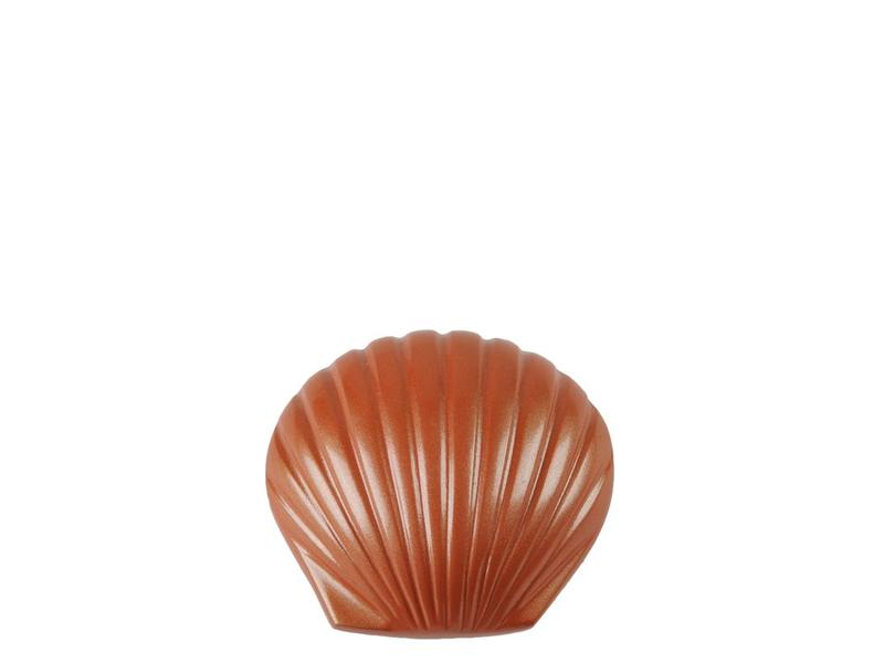 Mini urn shell coral - messing