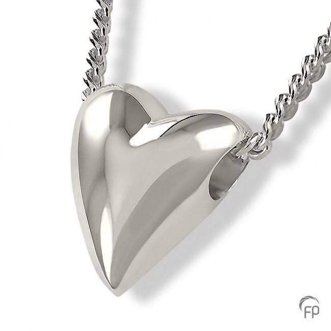 Ashanger kloppend hart - 925 Sterling zilver