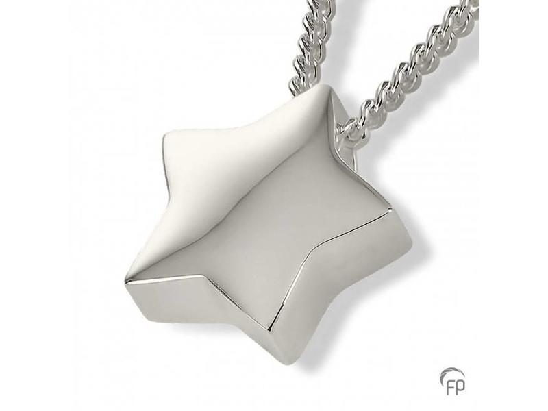 Ashanger 3D ster - 925 Sterling Zilver