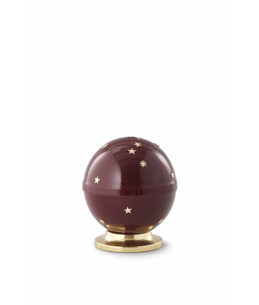 Kinder mini urn sterrenhemel bordeaux - messing