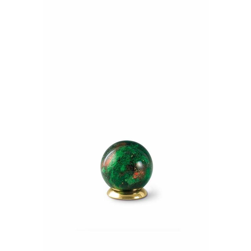 Kinder urn groene bol - glas