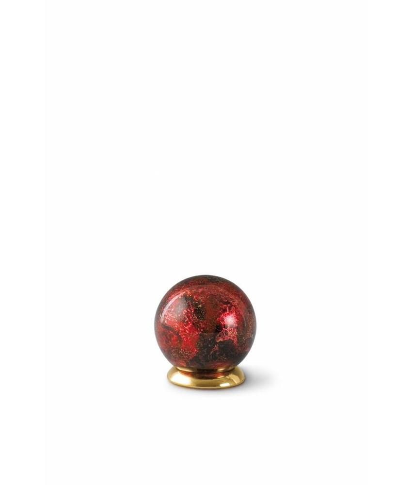 Kinder urn rood bol - glas