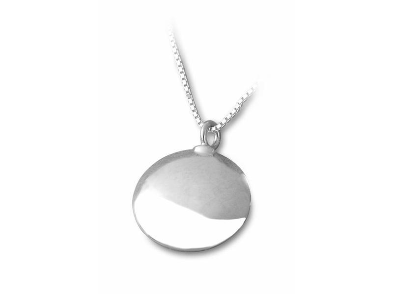 Ashanger rond - sterling zilver