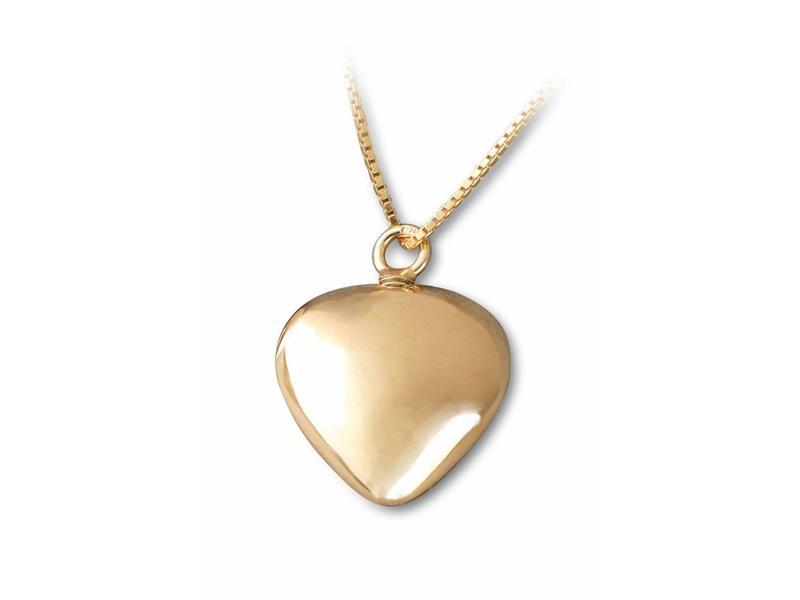 Ashanger hart- vermeil sterling zilver verguld goud