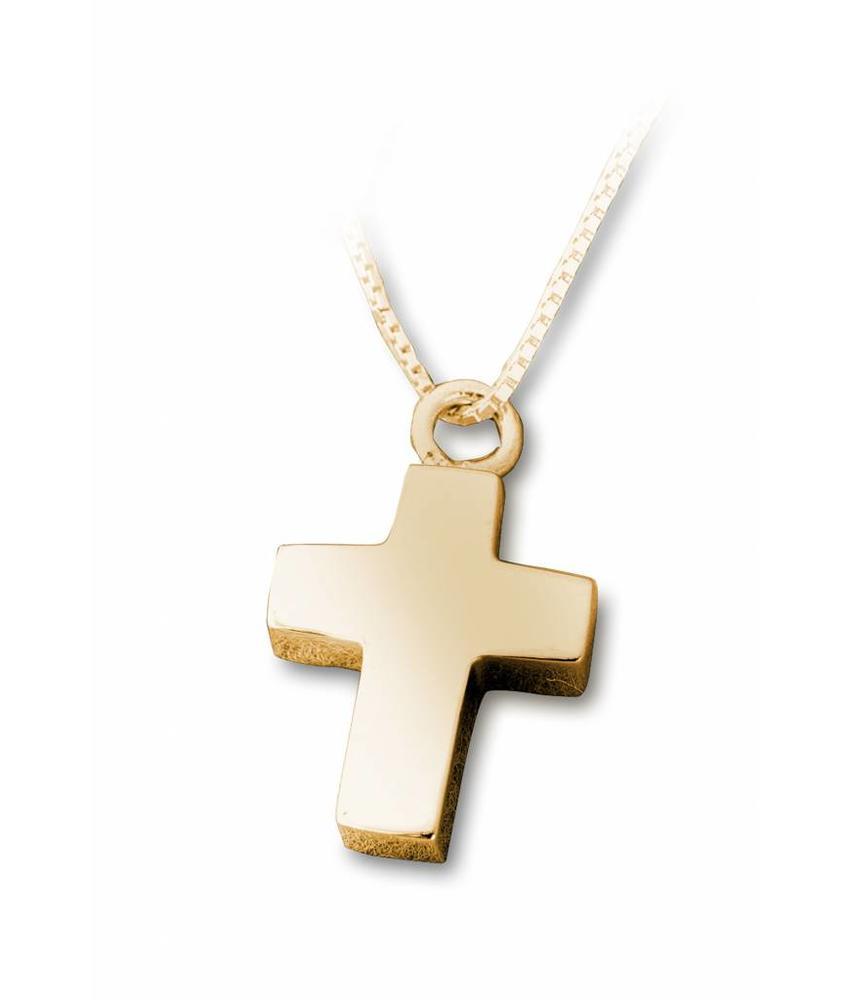 Ashanger kruis- vermeil sterling zilver verguld goud