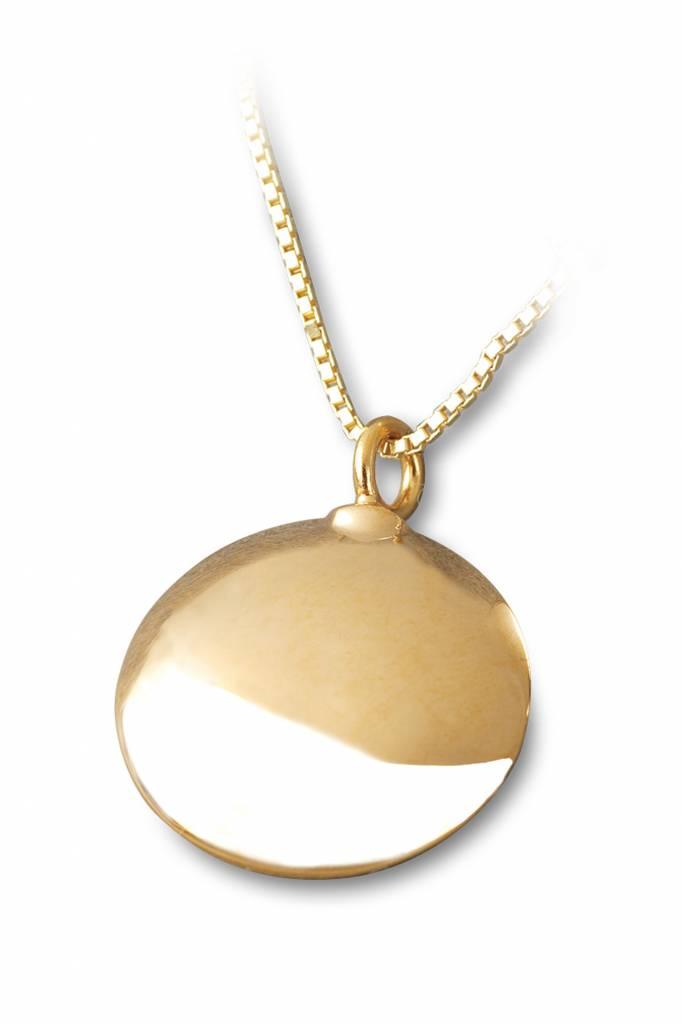 Ashanger rond - vermeil sterling zilver verguld goud