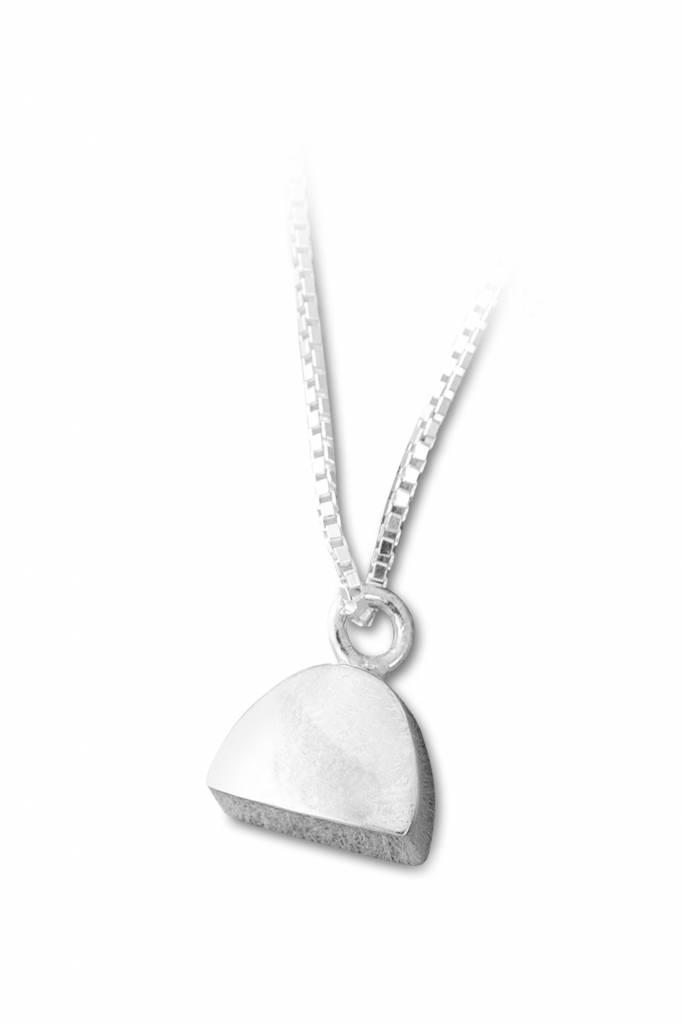 Ashanger halve cirkel klein - sterling zilver