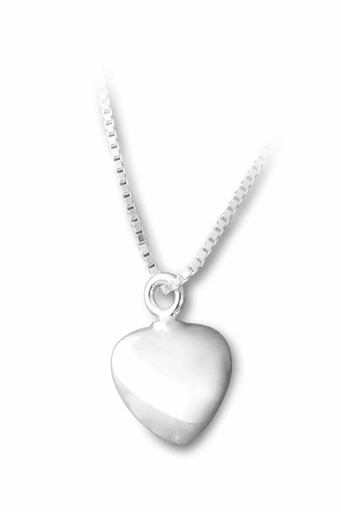 Ashanger hart klein - sterling zilver