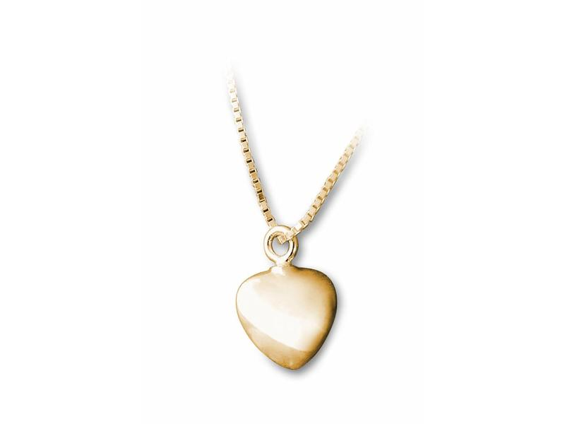 Ashanger hart klein - vermeil sterling zilver verguld goud
