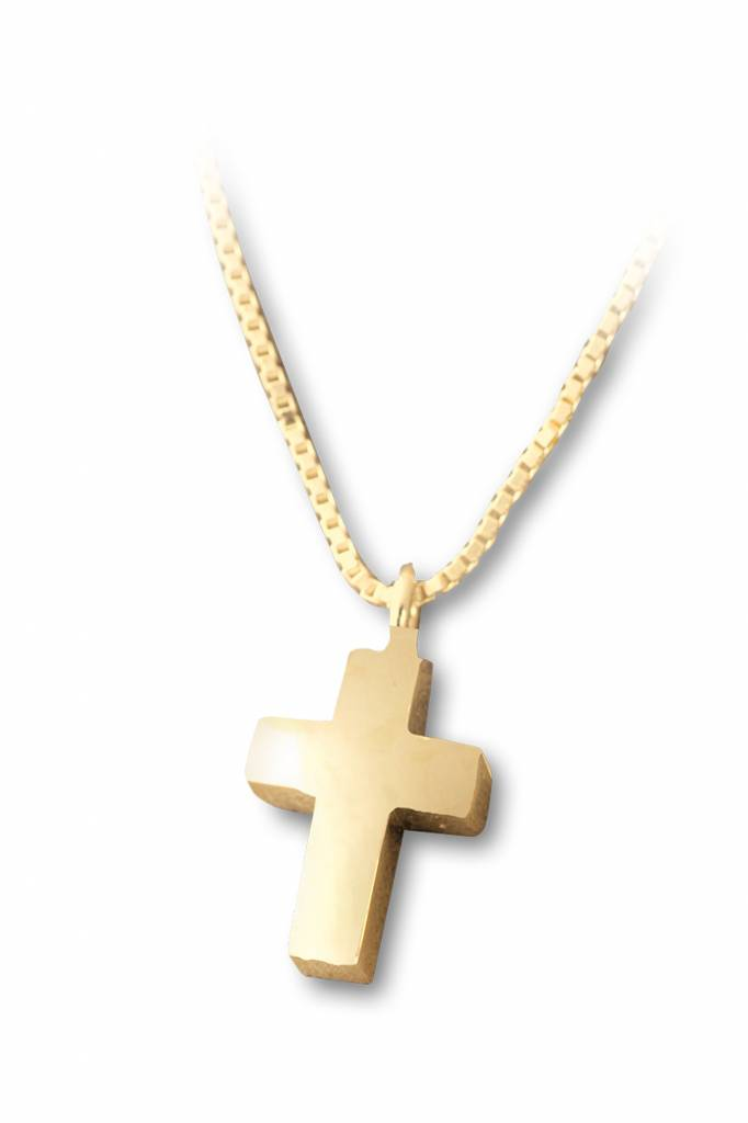 Ashanger kruis klein - vermeil sterling zilver verguld goud