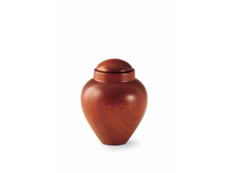 Mini urn mahonie - hout