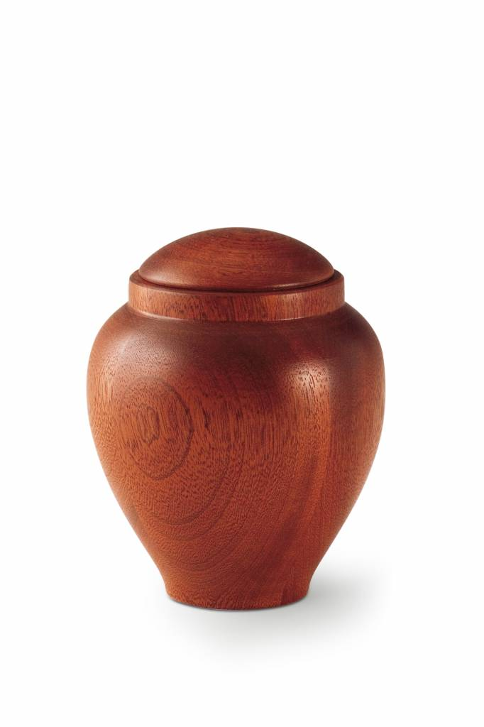 Medium urn mahonie - hout