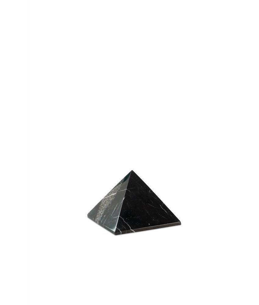 Mini urn pyramide zwart - marmer