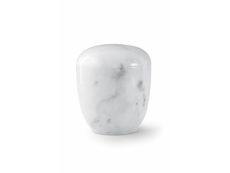 Medium urn wit - marmer