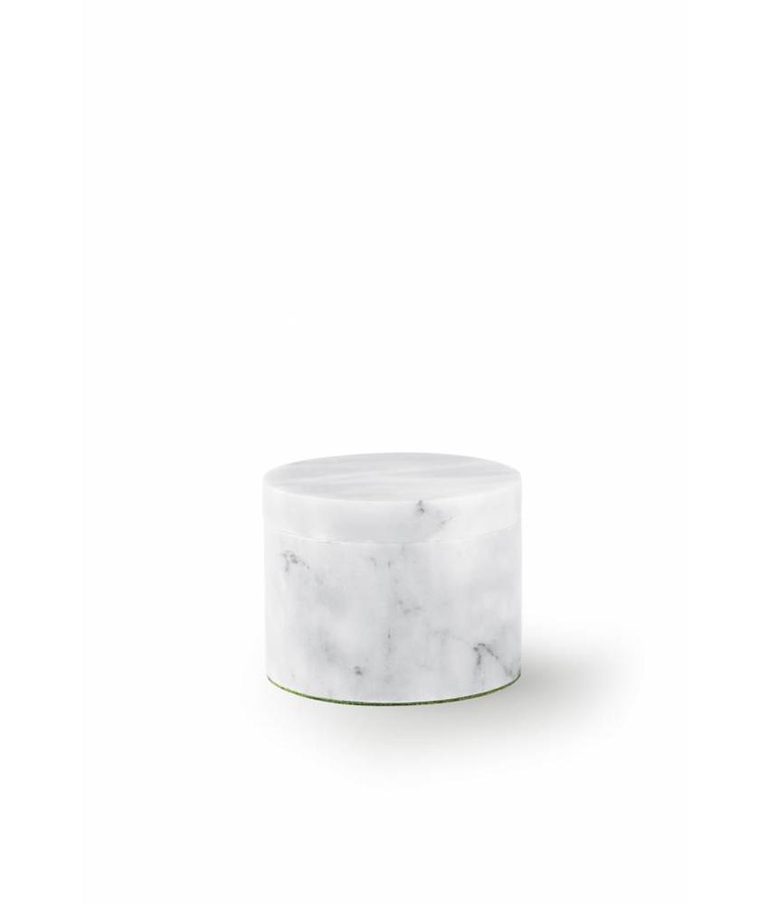 Mini urn witte box - marmer