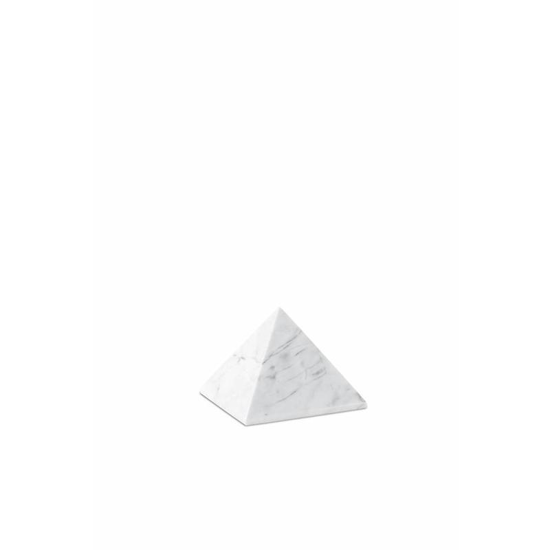 Mini urn witte pyramide - marmer