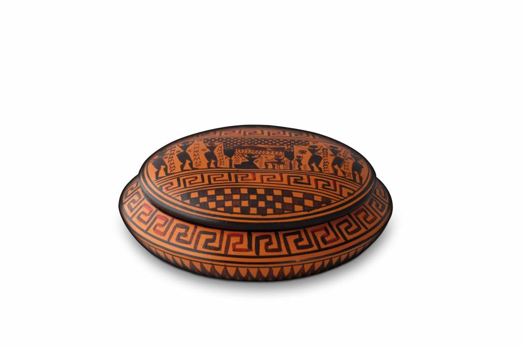 Kleine urn posseidon - keramiek
