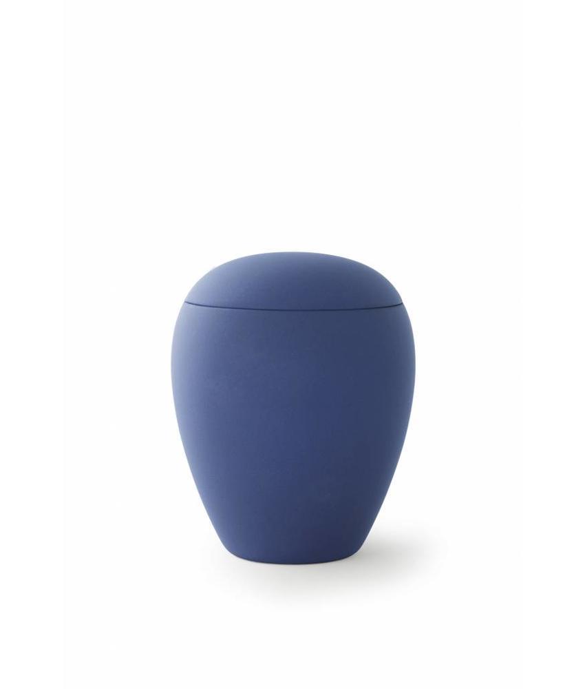 Mini urn sienna marine blauw - keramiek