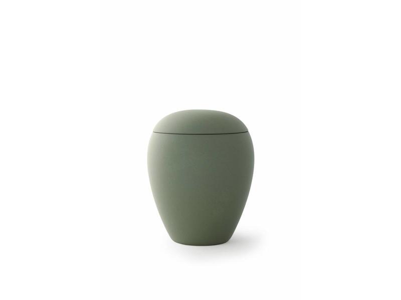 Mini urn sienna olijfgroen - keramiek