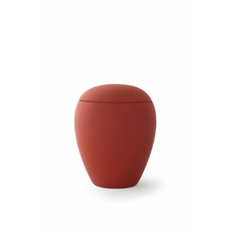 Mini urn sienna robijn - keramiek
