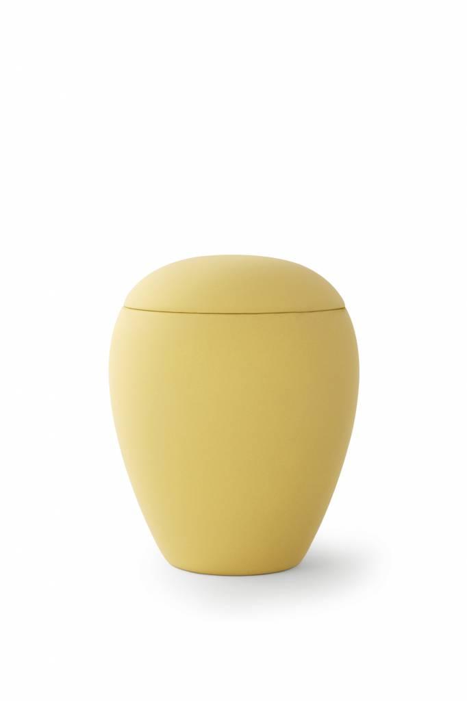 Mini urn sienna okergeel - keramiek