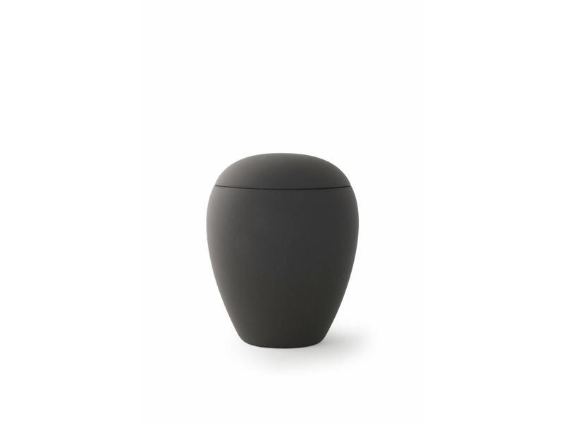 Mini urn sienna zwart - keramiek