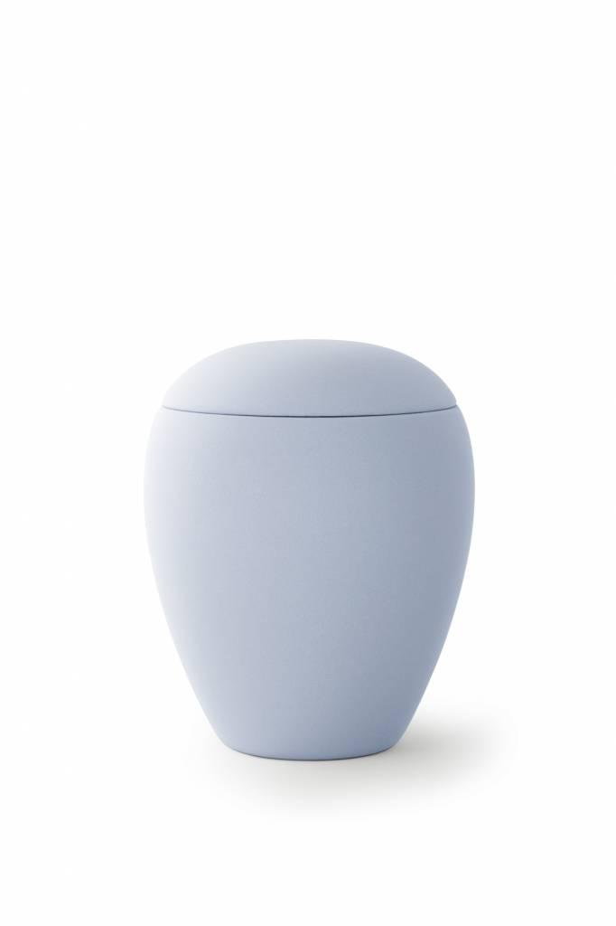 Mini urn sienna licht blauw - keramiek