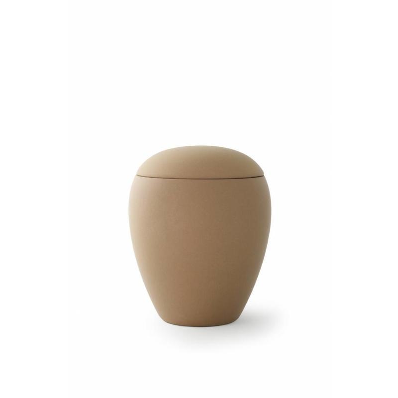 Mini urn sienna zandkleur - keramiek