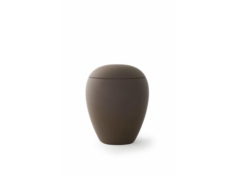 Mini urn sienna donker bruin - keramiek
