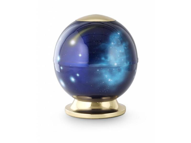 Kosmos urn blauw - staal