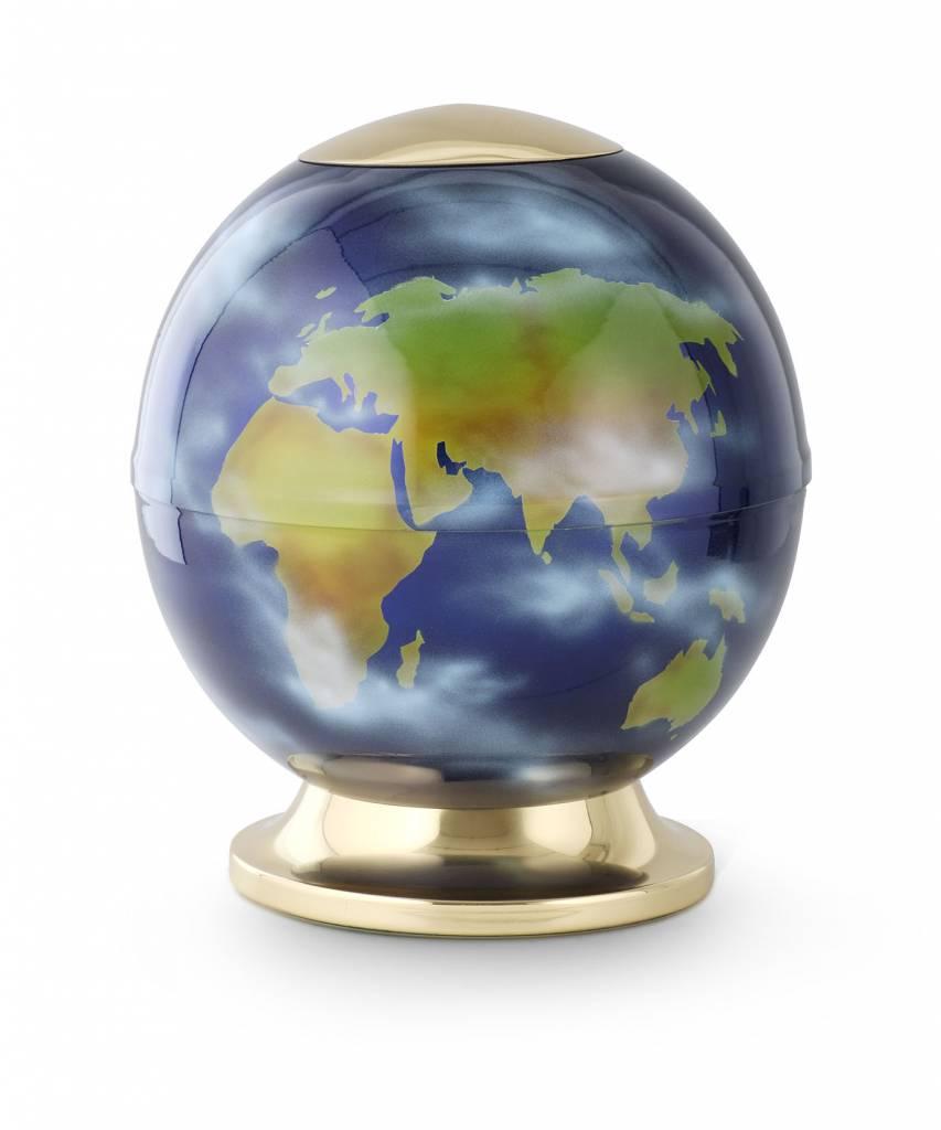 Wereldbol urn - staal