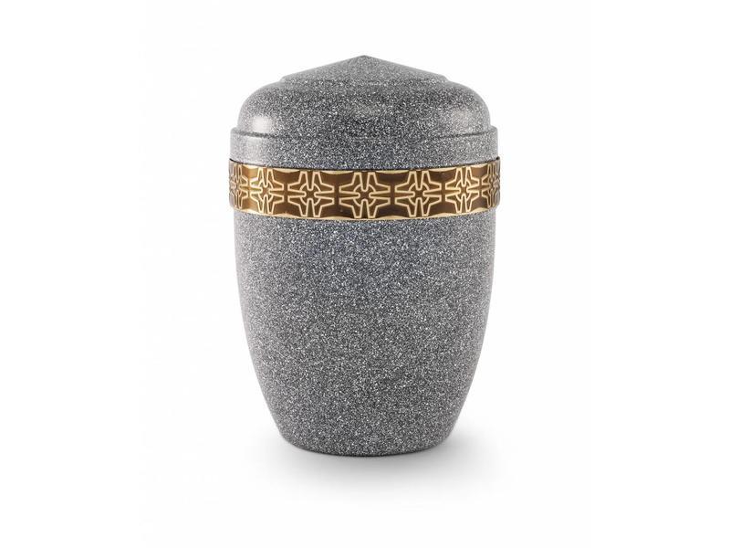 Reliëf urn basalt kleur - staal