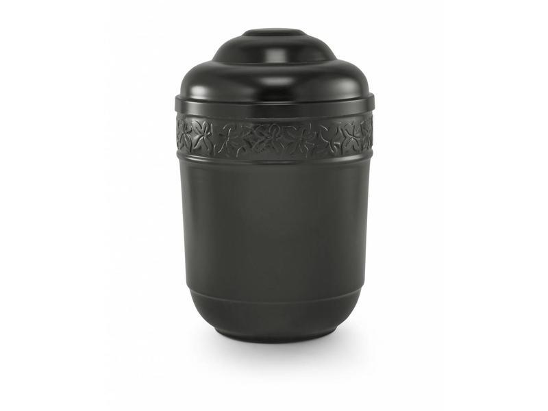 Klimop urn zwart - staal