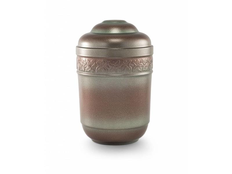 Klimop urn brons gepatineert - staal