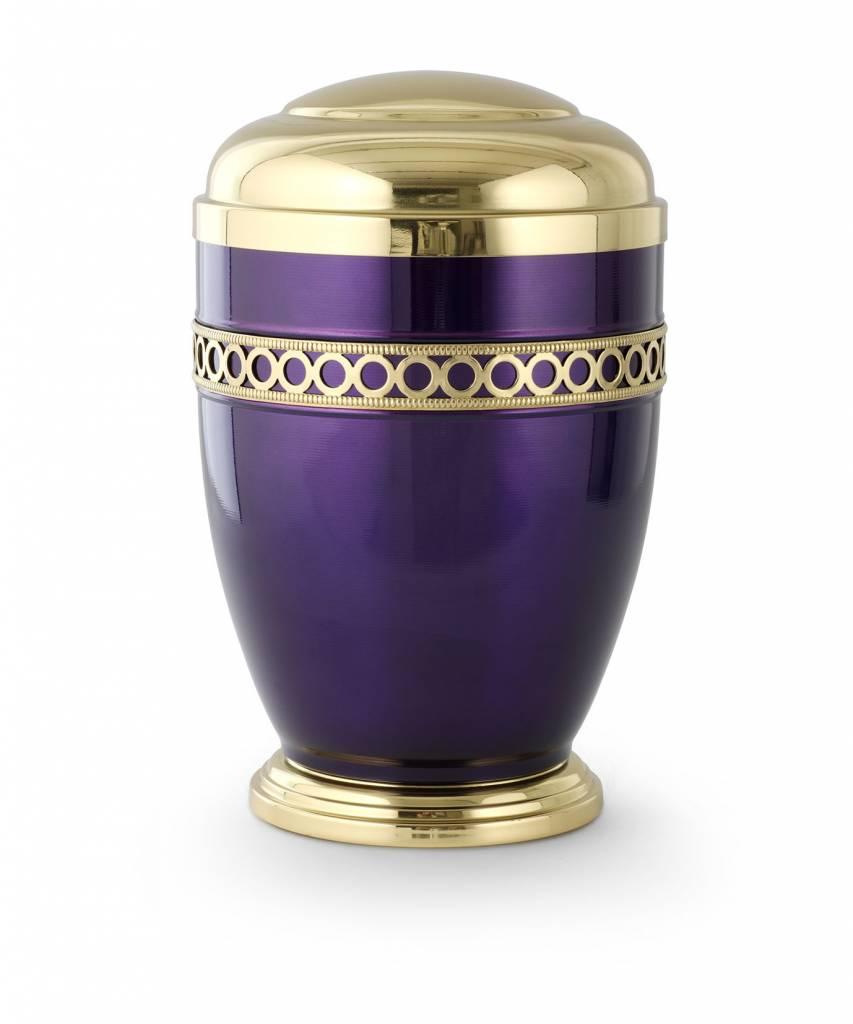 Retro urn violet paars - staal