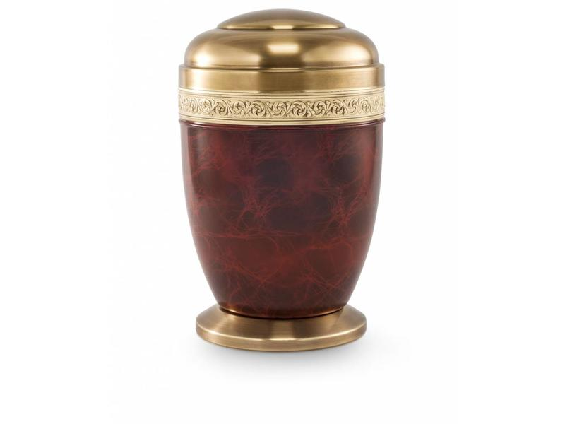 Bokaal urn bruin - staal