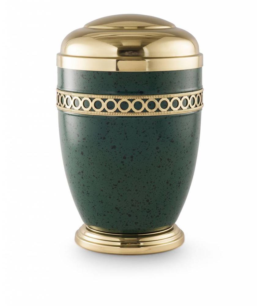 Bokaal urn groen met goud - staal