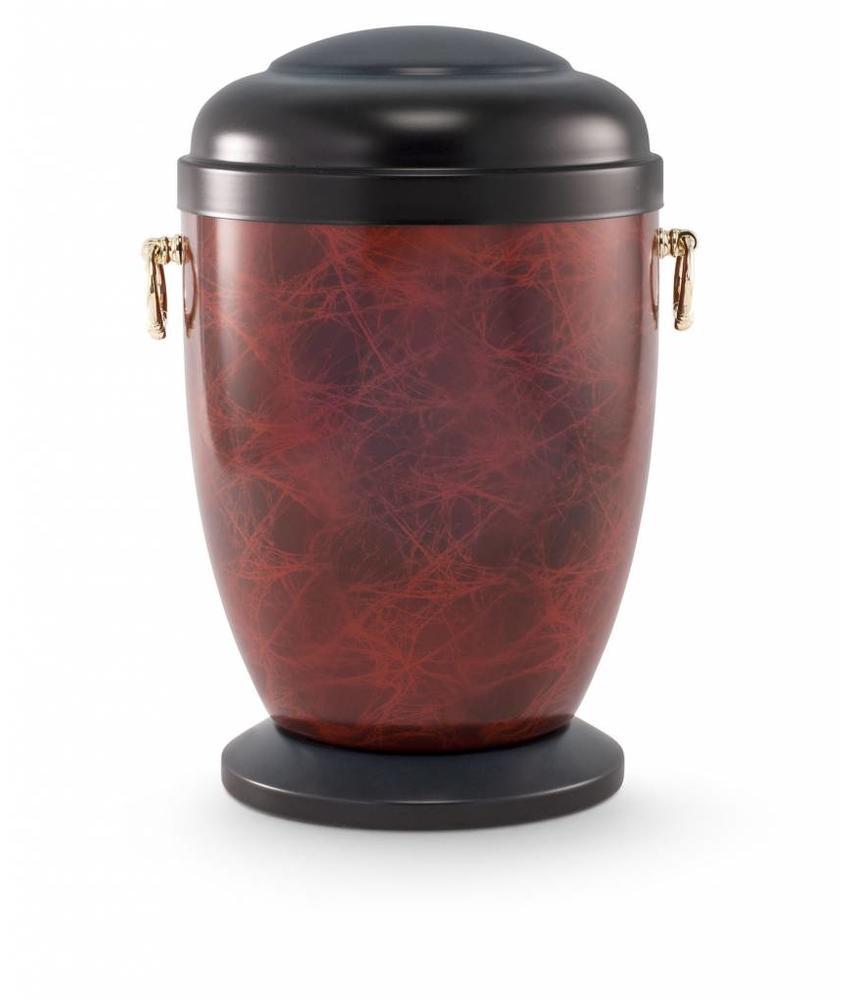 Retro urn houtmotief - staal