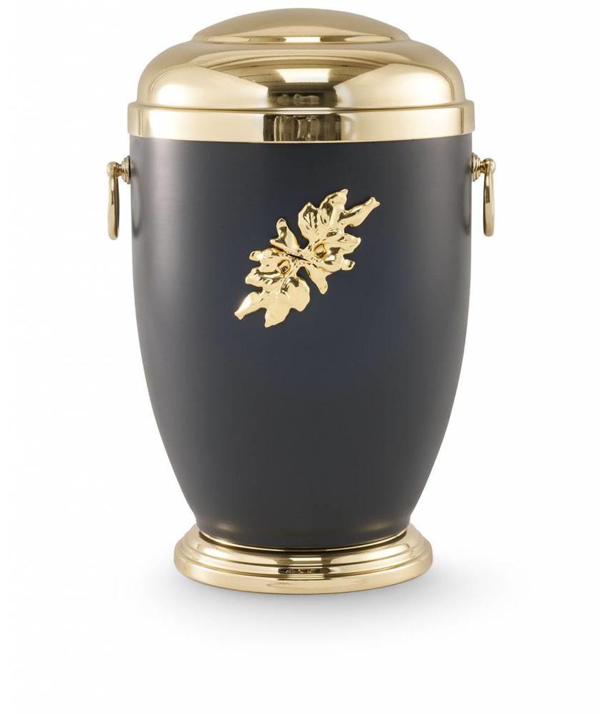 Retro urn bladmotief - staal