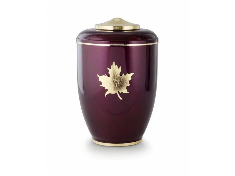 Burgundy esdoorn urn - staal