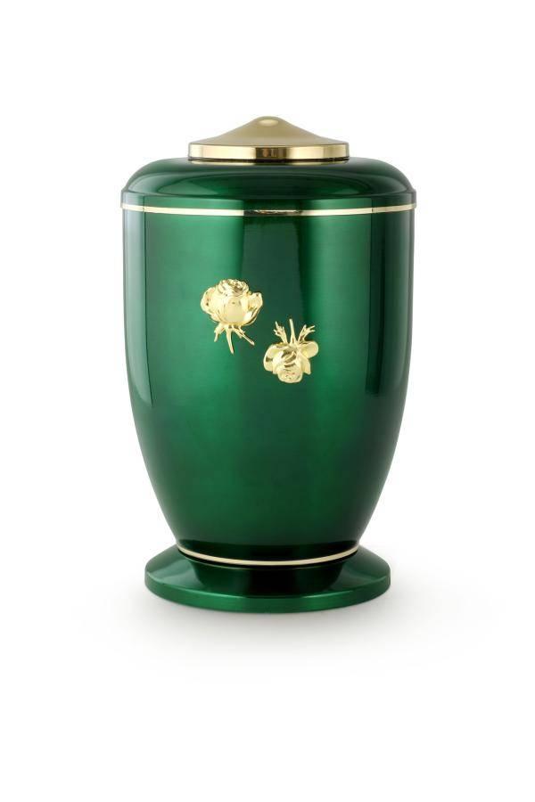 Groen rozen urn - staal
