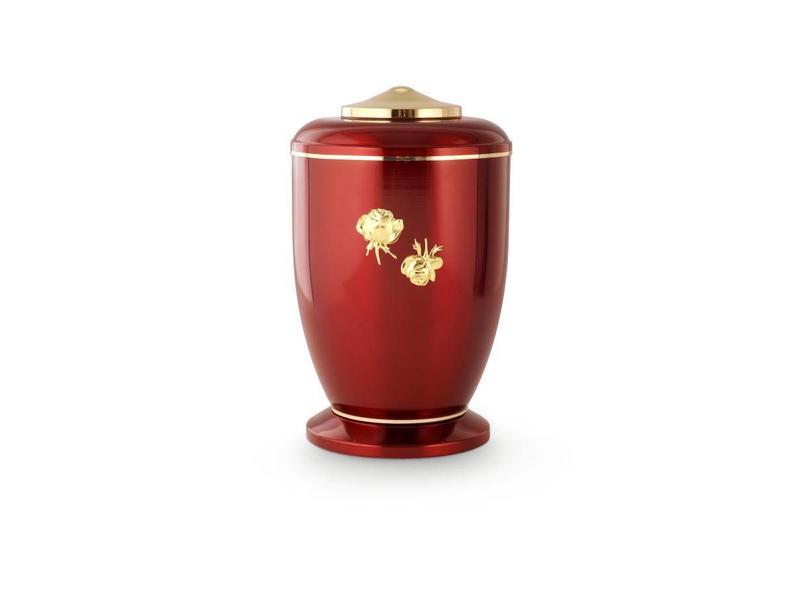 Rode rozen urn - staal