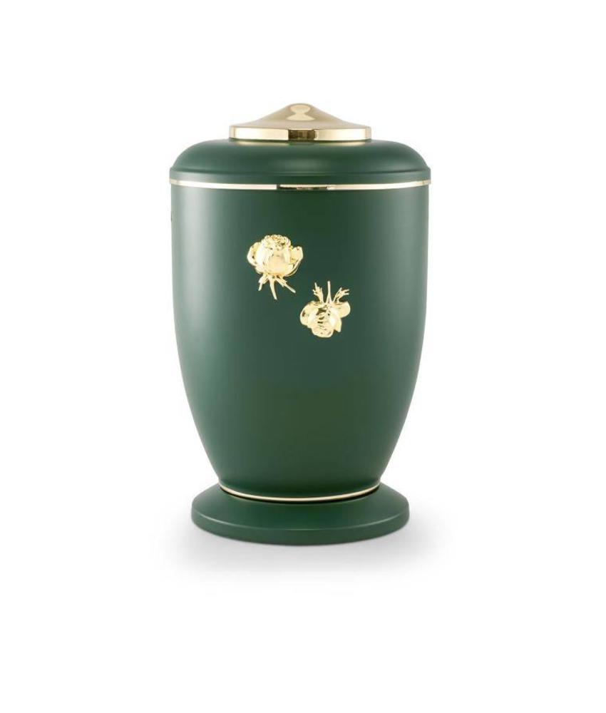 Mat groen rozen urn - staal