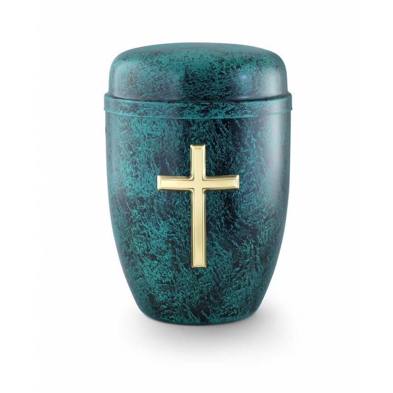 Asbus kruis zwart groen - staal