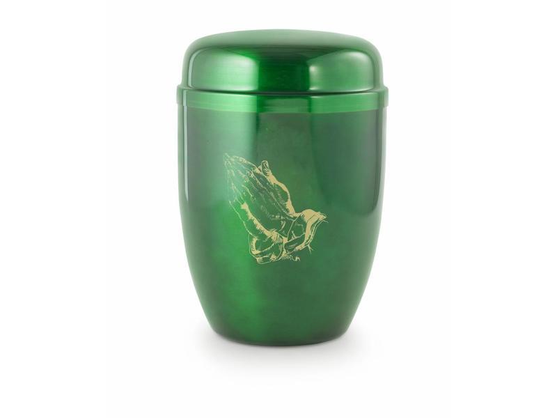 In gebed urn groen - staal