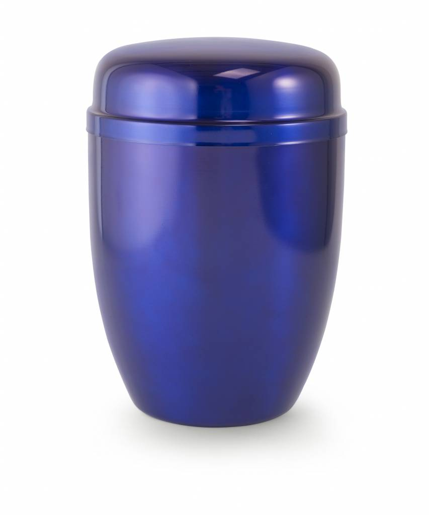 Bokaal urn blauw - staal
