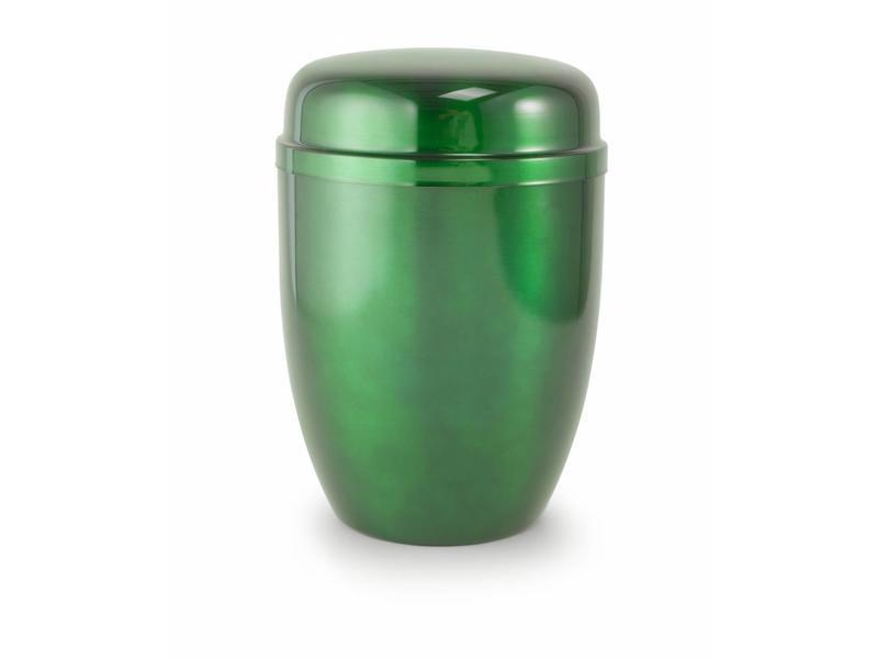 Bokaal urn groen - staal