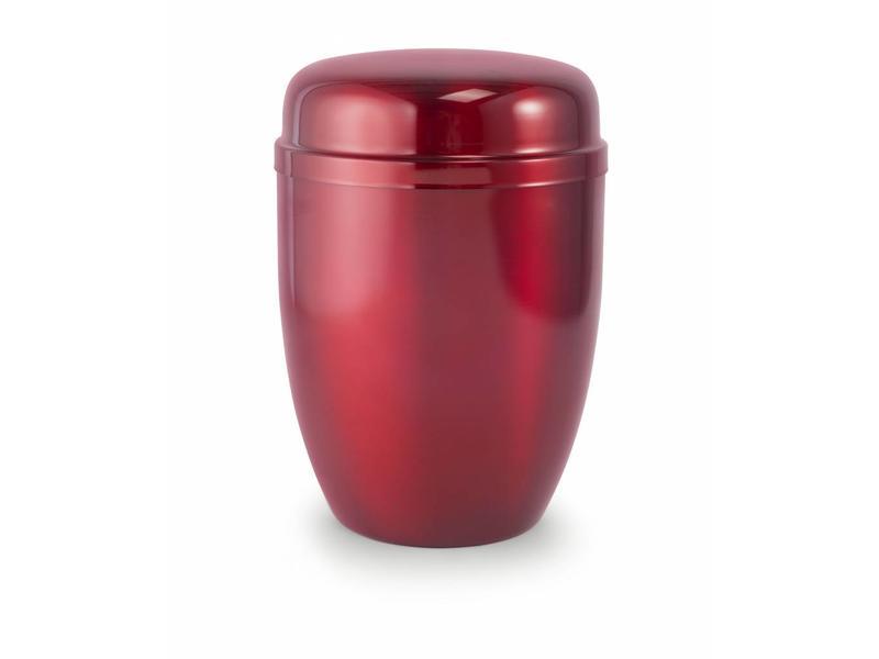 Bokaal urn rood - staal