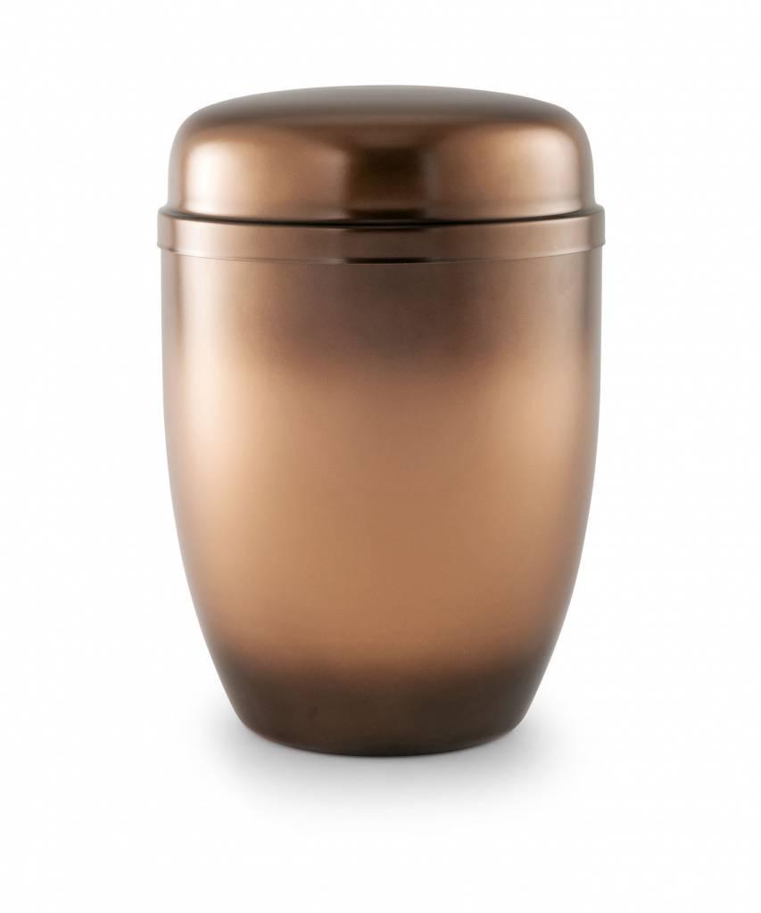 Bokaal urn koper en beige - staal