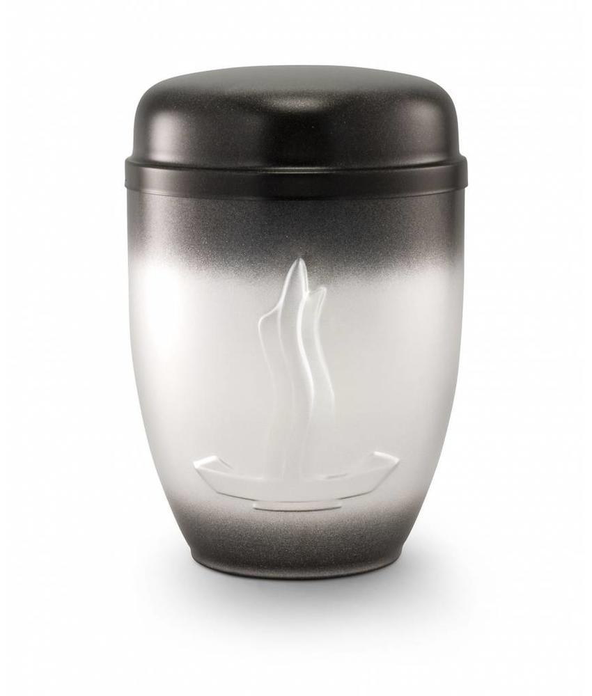 Asbus vlam zwart en zilver - staal